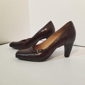 Sofft Brown Leather Heels 9.5 M